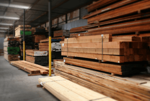 Extensive selection of lumber species