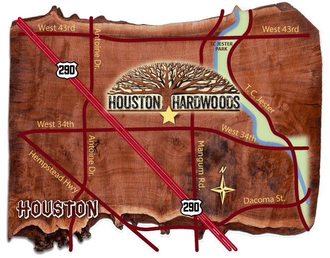 Mapa - Houston Hardwoods