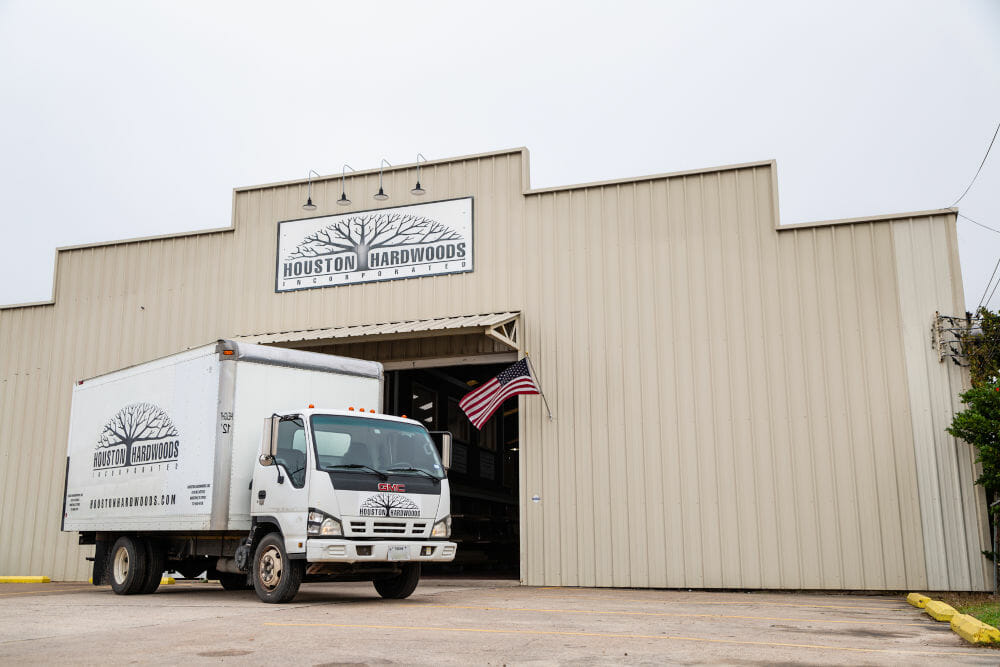 Houston Hardwoods' Delivery Van