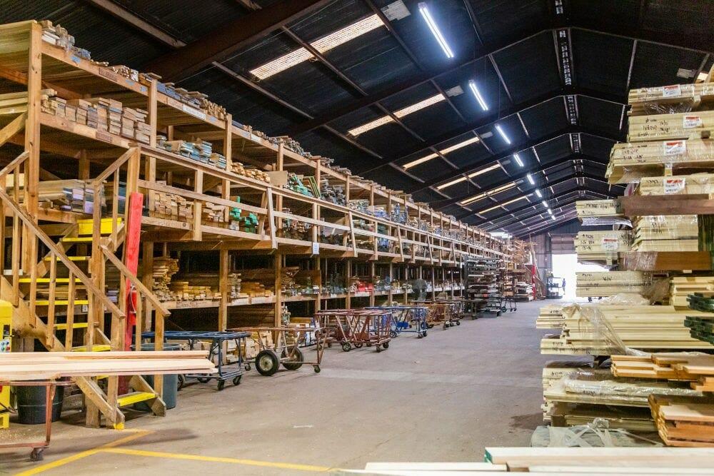 Lumber inside Houston Hardwoods 1