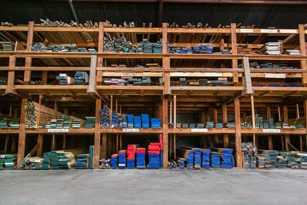 Lumber inside Houston Hardwoods 2