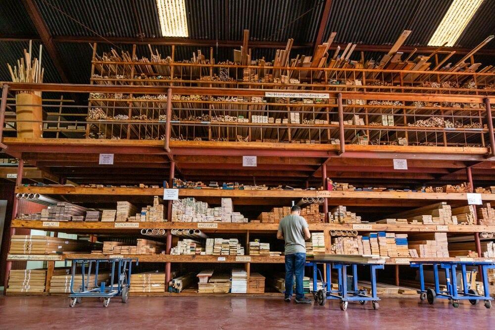 Lumber inside Houston Hardwoods 3